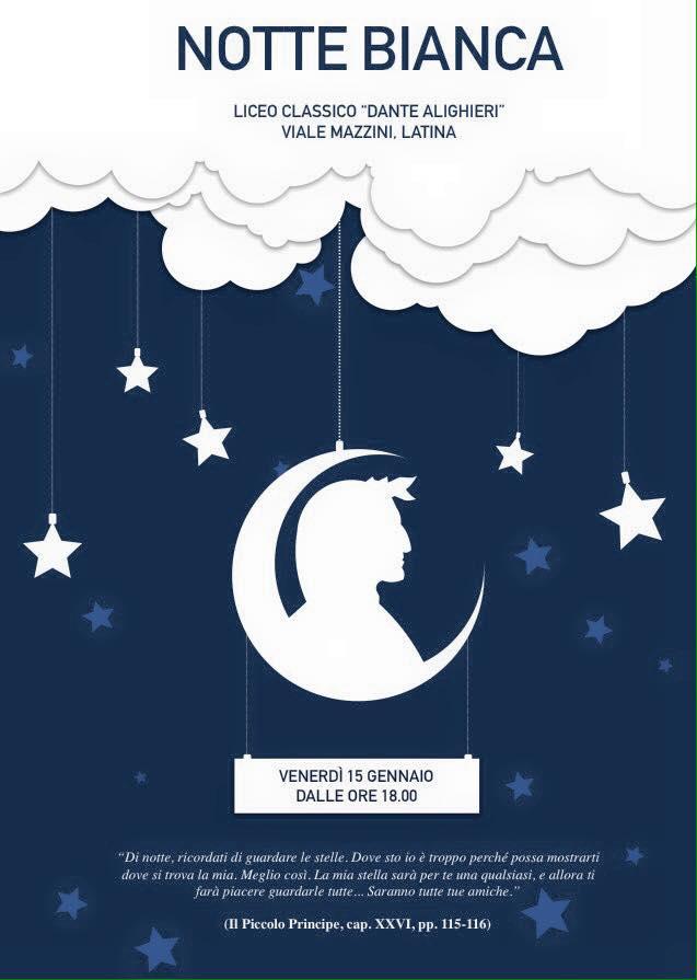 Il classico di latina aderisce alla notte bianca dei licei for Notte bianca udine 2016