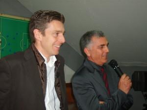 l'arbitro internazionale Gianluca Rocchi con il presidente Fiore Pressato