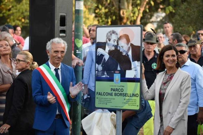 Parco Falcone e Borsellino, l'inaugurazione