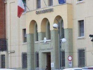 La caserma dei Carabinieri di Latina