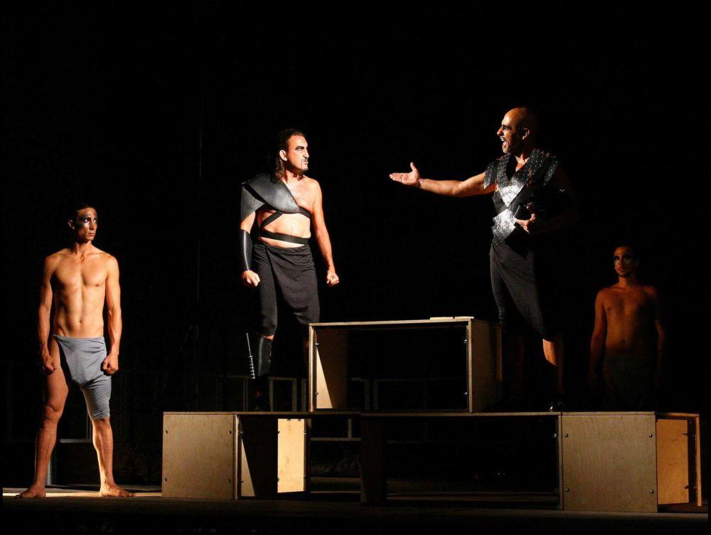 """Un'immagine tratta dallo spettacolo """"Coriolano, perché Anzio non conquistò Roma"""""""