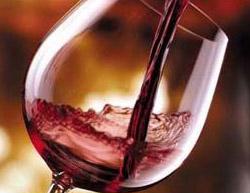 Calice di vino rosso