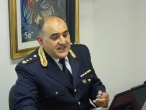 Il comandante della Polizia Stradale Francesco Cipriano