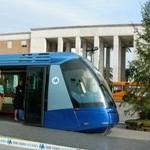 Il vagone della metro quando fu esposto in Piazza del Popolo