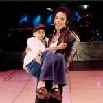 Daniele sul palco con Michael Jackson