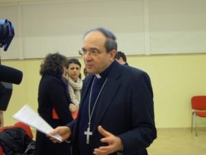 Il vescovo di Latina Giuseppe Petrocchi