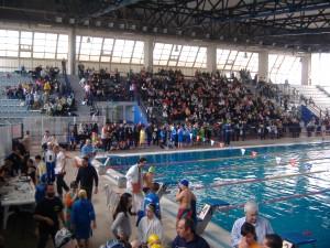 La piscina coperta in Via dei Mille