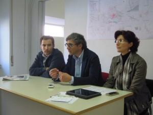 Da sinistra, Alessandro Cozzolino, Giorgio De Marchis e Nicoletta Zuliani