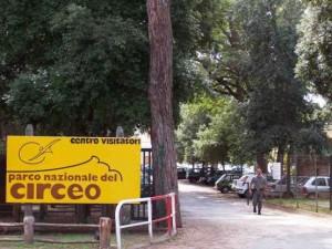 L'ingresso del centro visitatori del Parco nazionale del Circeo