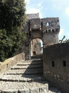 L'ingresso del Castello Caetani