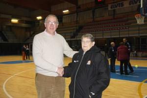 Coach Billeri e il cav Benacquista (foto Sonia Simoneschi)