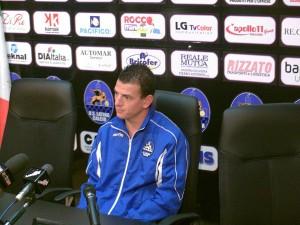 Dario Barraco, autore del goal in conferenza stampa