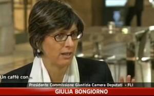 Giulia Bongiorno candidato alla Regione Lazio con i Centristi in un frame de Il Caffè di SkyTg24