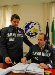 I carabinieri del Nac, Nucleo Anticontraffazione