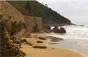 Sparita la spiaggia di Tiberio a Sperlonga