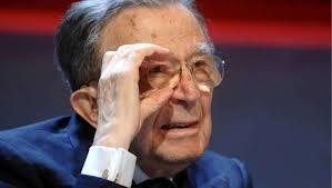 Il senatore Giulio Andreotti in una foto pubblicata dall'agenzia di stampa Agi che per prima ha battuto la notizia della sua morte