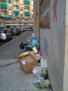 spazzatura in strada