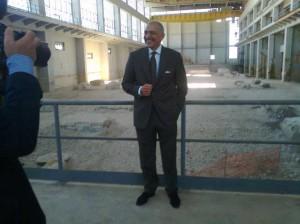 L'Ad Nucci illustra uno degli step più significativi della bonifica del sito di Sabotino, l'abbattimento dell'edificio turbine
