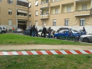 La Polizia sul luogo del ritrovamento