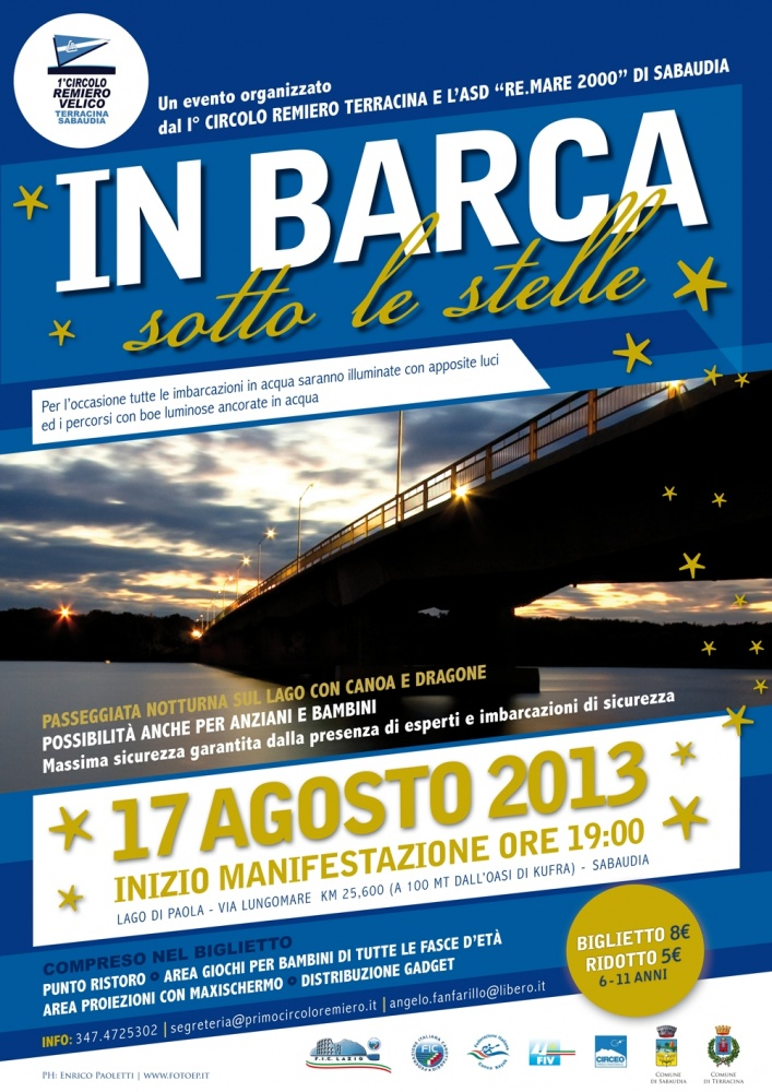 in barca sotto le stelle