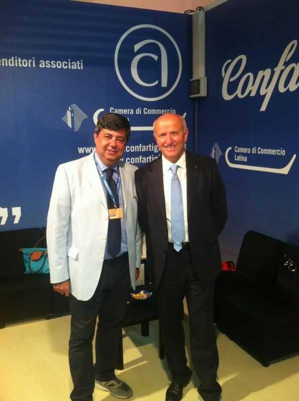 Il direttore di Confartigianato Latina Ivan Simeone (a sinistra)