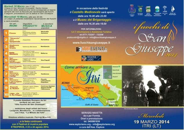 I Fuochi di San Giuseppe 2014 - Programma