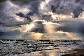 cielo nuvoloso sul mare
