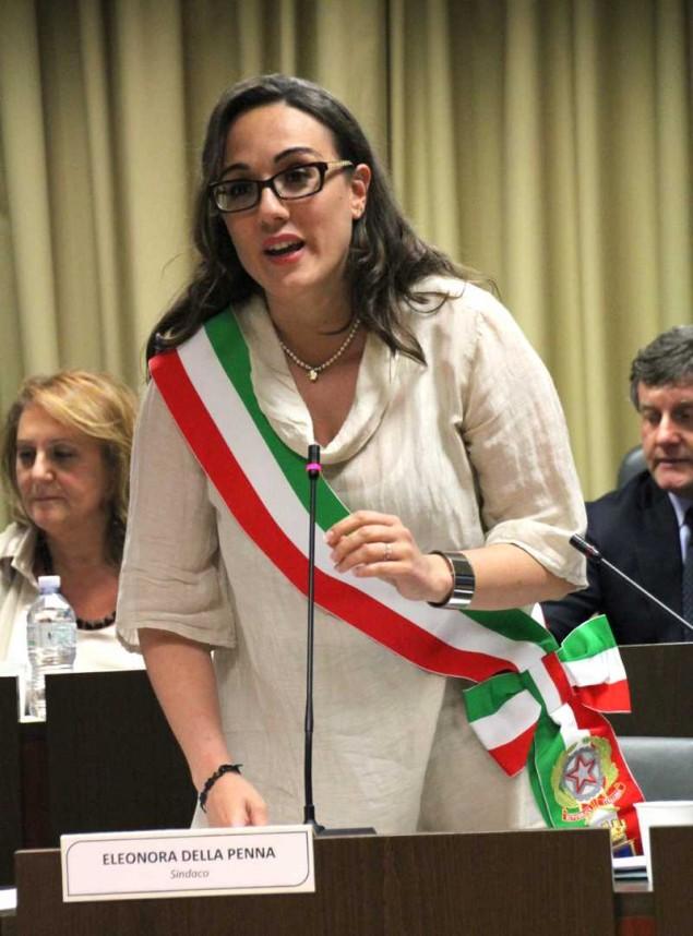 Il sindaco Eleonora Della Penna