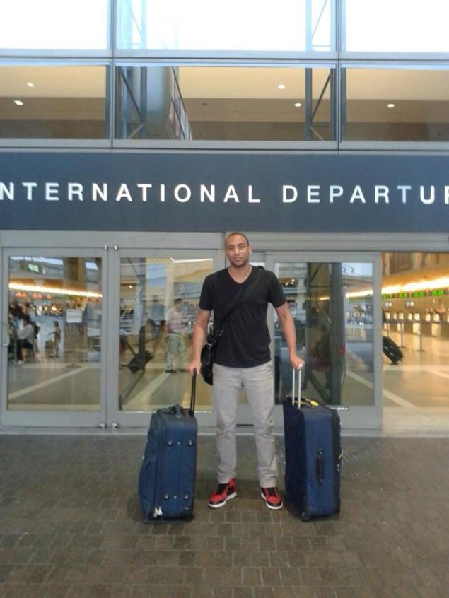 Kyle Austin in aeroporto