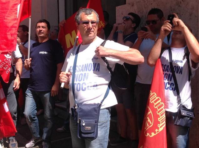 La manifestazione dei lavoratori a Roma