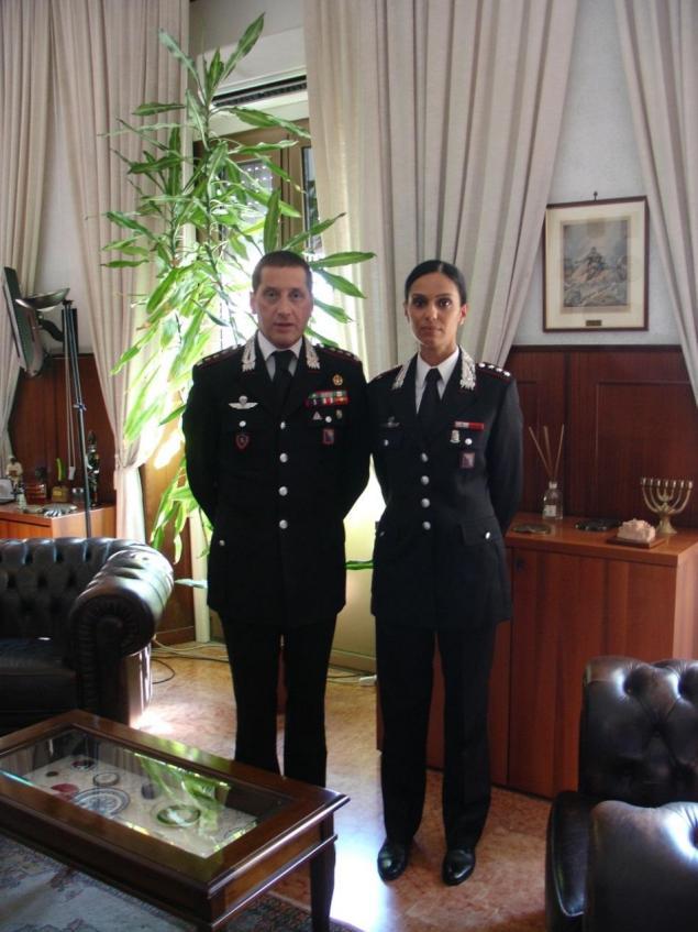 Capitano Margherita Anzini - Compagnia Carabinieri di Terracina