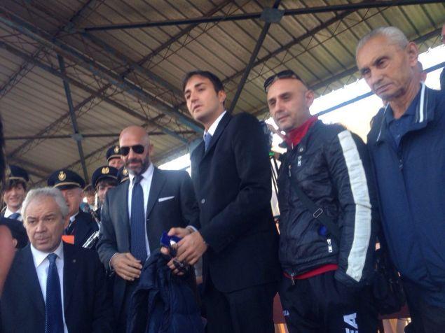 Gianluca Vialli ex campione e commentatore Sky ieri sugli spalti per il match