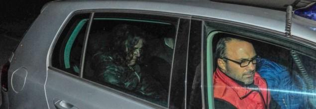 Il giudice Lollo lascia la Questura di Latina dopo l'arresto il 20 marzo 2015