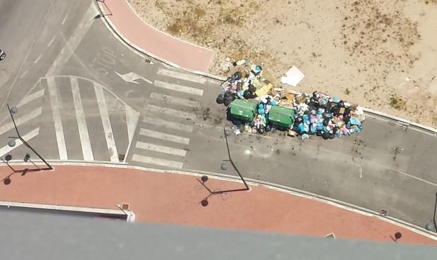 rifiuti (vista dalla Torre Pontina)