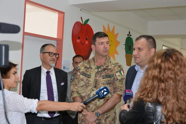 Il colonnello Benzi e il Sindaco di Pristina
