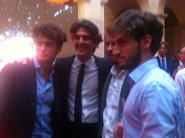 Roberto Fratini con Paolo Barletta, Diego Capponi e Gianmarco Fratini