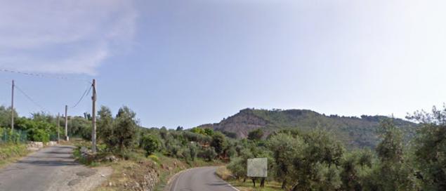 un tratto della provinciale Itri-Sperlonga