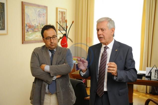 Il Commissario Barbato con il viceprefetto Canaparo