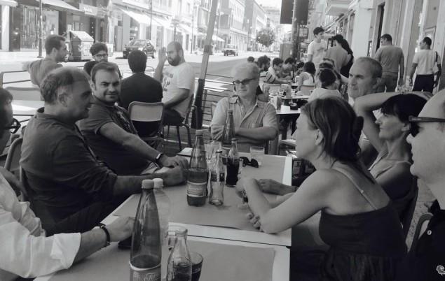 Enrico Forte con alcuni esponenti del Pd che lo vogliono candidato