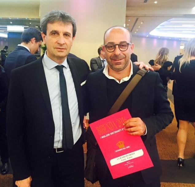 Claudio Petrolo con Sandro Serva di Bibenda 2016