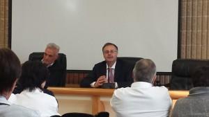 Caporossi e a destra il nuovo direttore amministrativo Giorgio Casati