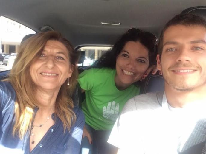 Il sindaco di Lampedusa Giusi Nicolini con la giornalista Angela Iantosca autrice di questa rubrica