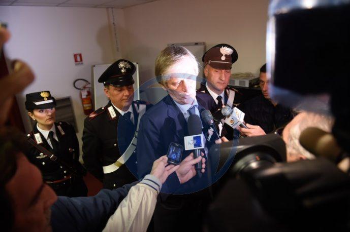 Il procuratore Andrea De Gasperis in conferenza stampa
